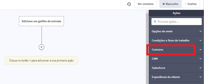 Tela de configuração para integração ActiveCampaign e Facebook